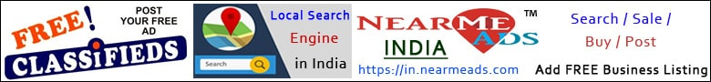 Near Me Ads India - Local Search Classifieds Web Portal